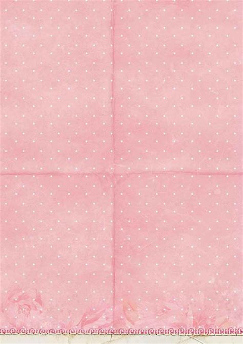 Sweet Romance Background Paper Double Face A4