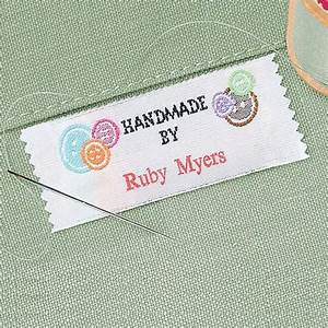 hand made by personalized sewing label colorful images With embroidery labels sewing
