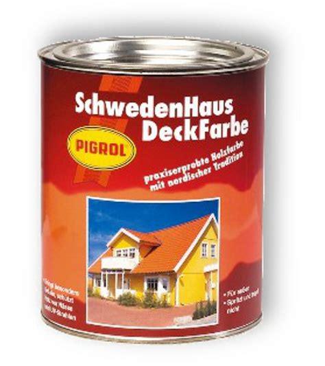 pigrol schwedenhaus deckfarbe  ltr farben hilkertde