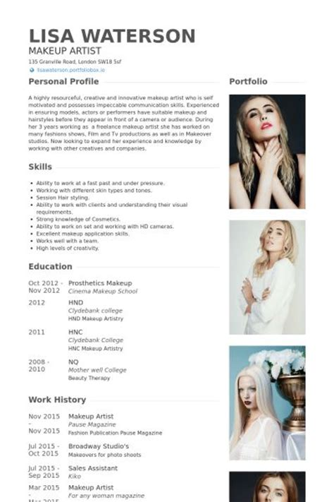 Professional Makeup Artist Resume by 25 Best Ideas About Artist Resume On Graphic Designer Resume Cv Ideas And