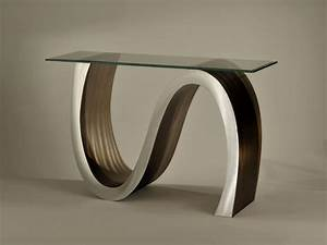 Designer sofa table, modern entry table modern