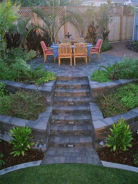 tiered front yard landscaping tiered yard patio exactly how i want to quot manage quot our yard to woods scenario my yard and