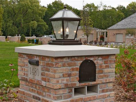 brick l post designs outdoor lantern lighting driveway light posts solar