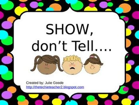 Show, Don't Tell Powerpoint Writing Lesson  Writing Lessons And Writing