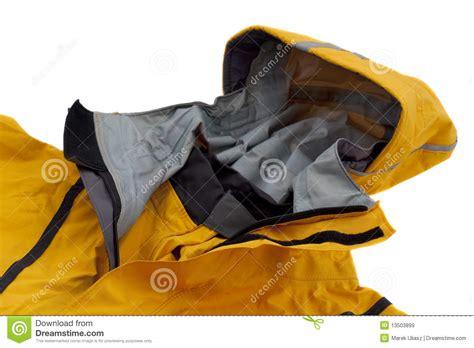 waterproof breathable paddling jacket  hood stock image image
