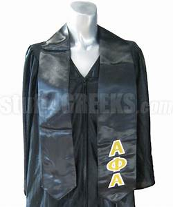 alpha phi alpha satin graduation stole with greek letters With greek letter stoles