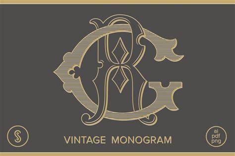 gr monogram rg monogram logo templates creative market