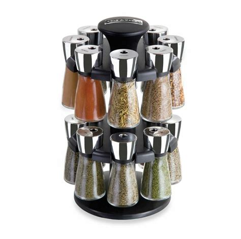 Revolving Spice Rack With 16 Spices by 16 Jar Bottle Revolving Spice Rack Set Organizer Storage