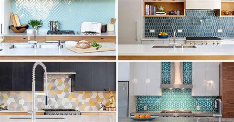 inspirational kitchens  geometric tiles contemporist