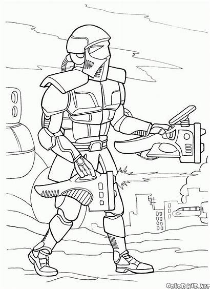 Coloring Pages Future Battle Android Colorkid Wars