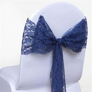 Chaise Bleu Marine : noeud de chaise en dentelle bleu marine les couleurs du mariage mariage et r ception ~ Teatrodelosmanantiales.com Idées de Décoration