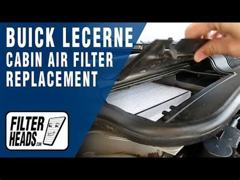 replace cabin air filter buick lucerne youtube