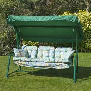 alfresia luxury garden swing seat cushions 3 seater