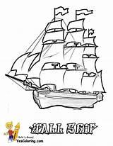 Ship Coloring Pages Boat Tall Navy Boats Ships Printable Drawing Cargo Sailing Pirate Cool Colouring Sheet Printables Cartoon Sky Coloringfolder sketch template