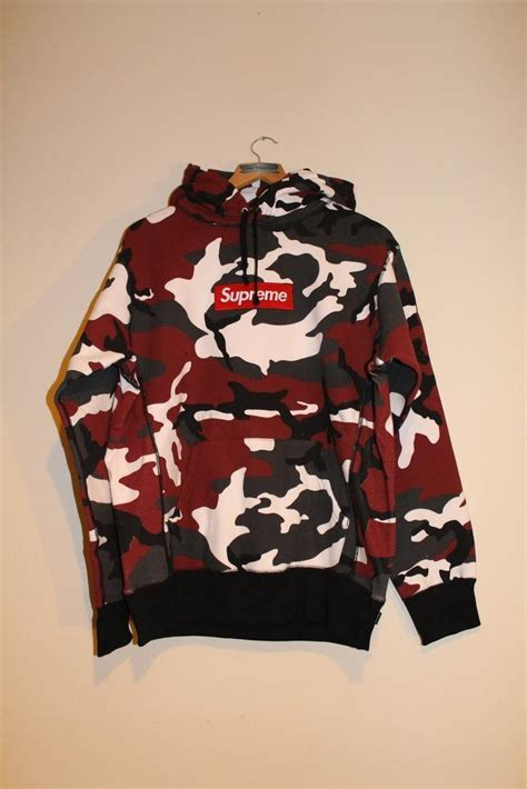 Supreme Red Camo Hoody from rarethreads.bigcartel.com Things I