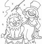 Circus Coloring Ringmaster Printable Puppy Getdrawings Getcolorings sketch template