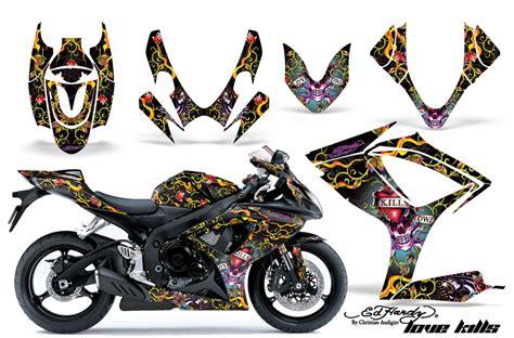 2006 2007 suzuki gsx r600 r750 bike graphic decal sticker kit 06 07