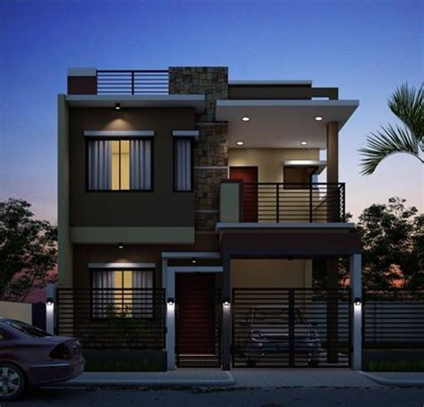 rectangle shape exterior design individual home exteriordesign zen house design