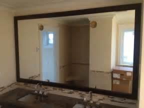 framed bathroom mirrors ideas wood frame wall mirror harpsounds co