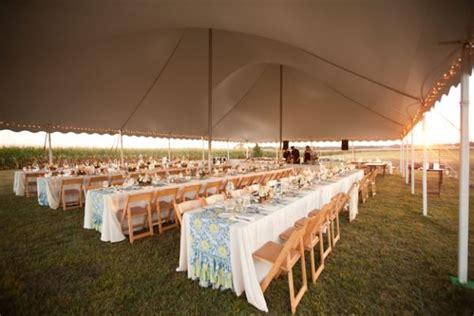 intimate wisconsin cornfield wedding table set up ideas
