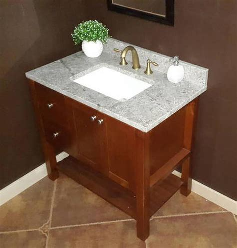 37 quot x 22 quot gray forest granite vanity top 1 rectangle