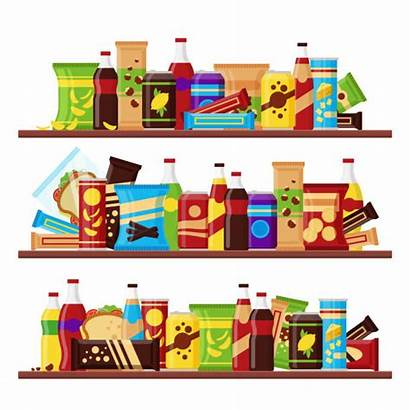 Shelves Snacks Fast Chips Shelf Juice Grocery