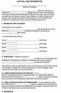 last will and testament template form illinois template With family will template