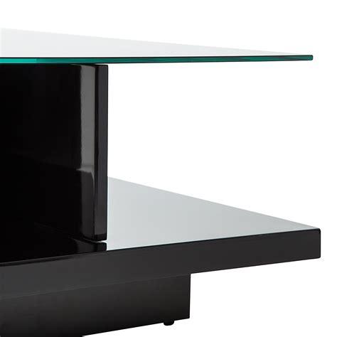 beistelltisch hochglanz schwarz couchtisch schwarz hochglanz beistelltisch wohnzimmertisch glastisch glasplatte ebay