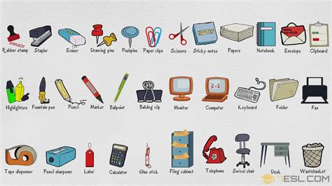 Office Supplies Used by Office Supplies List Of Stationery Items With Pictures