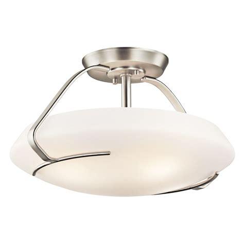 kichler 42063ni brushed nickel 4 light semi flush indoor