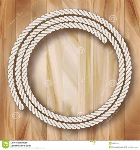 wood vector frame rope design stock vector image