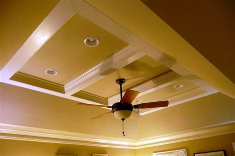 tray ceiling design with lights and fan home design exles