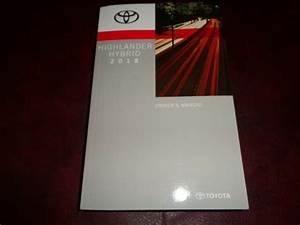 2018 18 Toyota Highlander Hybrid Suv Owners Manual Book