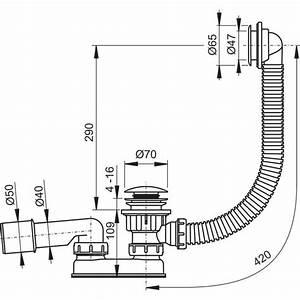 Diametre Evacuation Baignoire : siphon 50mm pour receveur de douche ravak sabina ~ Nature-et-papiers.com Idées de Décoration