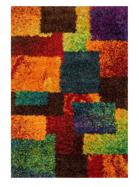 colored area rugs multi colored rainbow geometric area rug funk this house