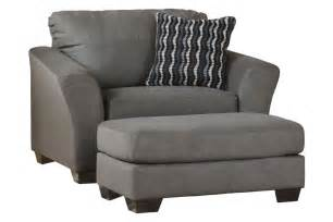 Microfiber Oversized Chair with Ottoman