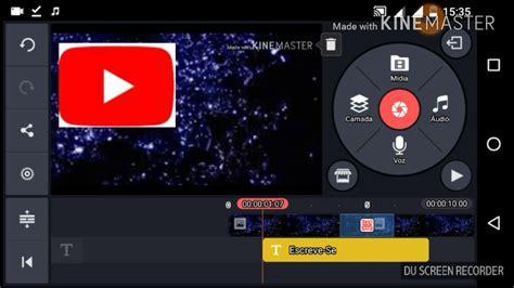 como fazer uma vinheta passo a passo o app kine master