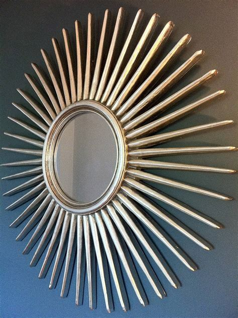 antique silver starburst wall mirror by the forest co notonthehighstreet com