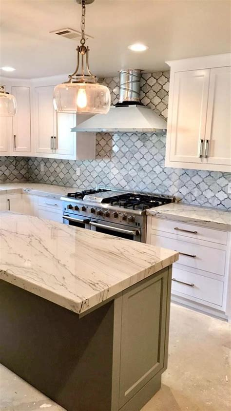 finished  kitchen  infinity quartzite counter