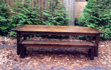 ana white  foot farmhouse table  bench diy projects