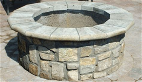 stone age short  outdoor fire pit kit  station