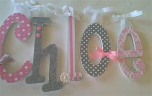 pink and grey nursery decor baby girl wooden letters for With girls wooden letters