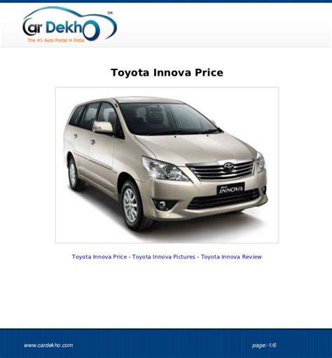 Toyota Innova Price by Toyota Innova Price 23aug2012
