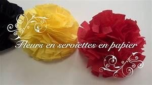 Fleur En Papier Serviette : fleurs en serviettes en papier youtube ~ Melissatoandfro.com Idées de Décoration