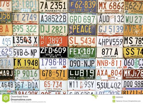 american vehicle number plates editorial photography