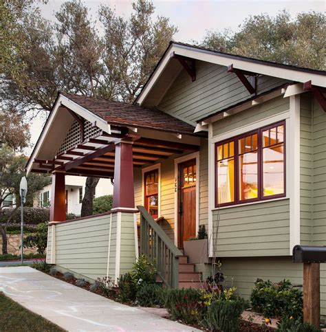 exterior paint colors with brown roof for craftsman porch