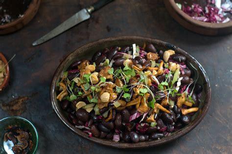ayocote bean mushroom salad recipe  cookbooks