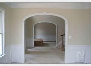 Custom Arched Opening with elliptical arch, keystone ...