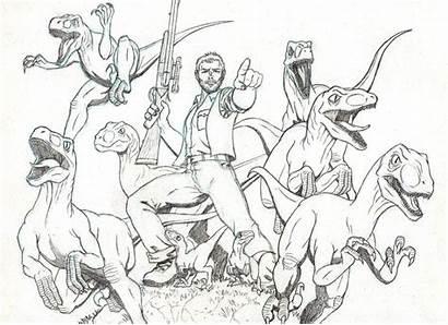 Jurassic Coloring Pages Deviantart Owen Park Dinosaur