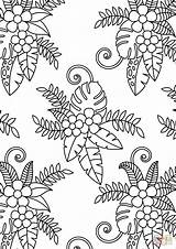 Coloring Pattern Floral Pages Printable Flower Adults Sheets Flowers Dot Drawing Categories sketch template